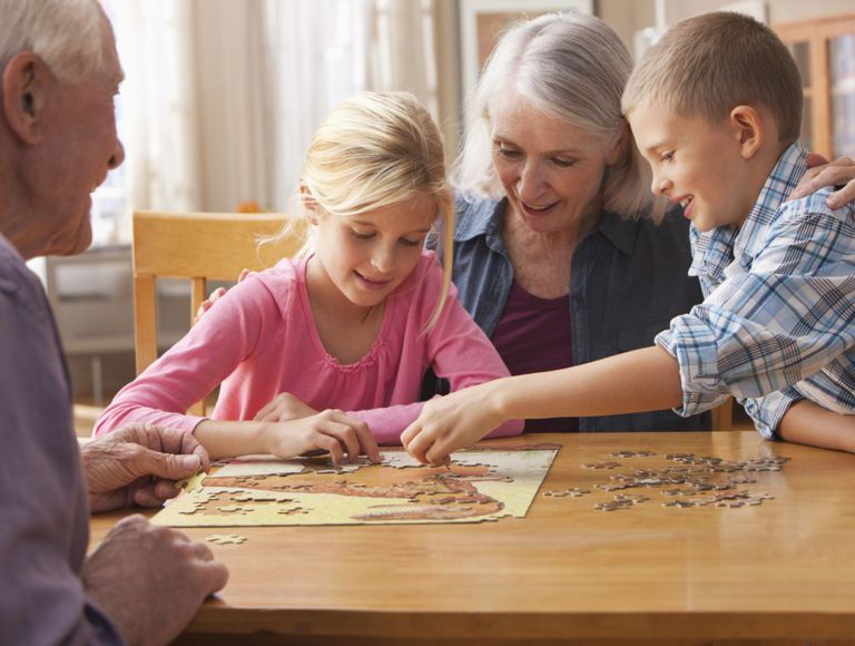 Family activities such as jigsaw puzzles are great fun for Grandparents Day.