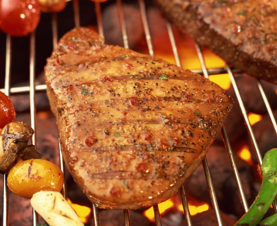 Grilled ahi tuna steak