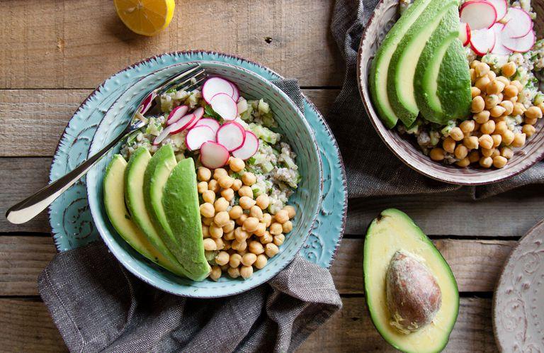 Avocado and healthy salad