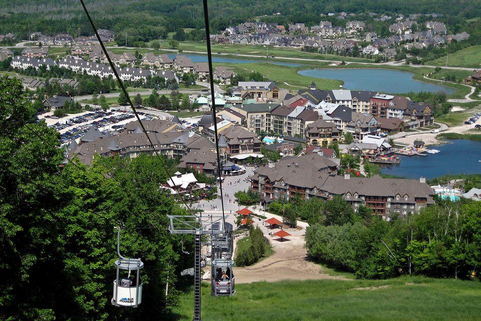 Blue Mountain Ski Resort In Collingwood Ontario Canada