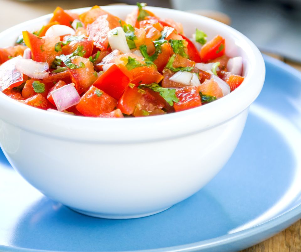 Raw vegan salsa with all fresh raw ingredients