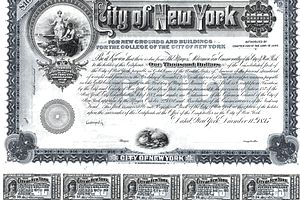 Bond Certificate with Bond Coupon