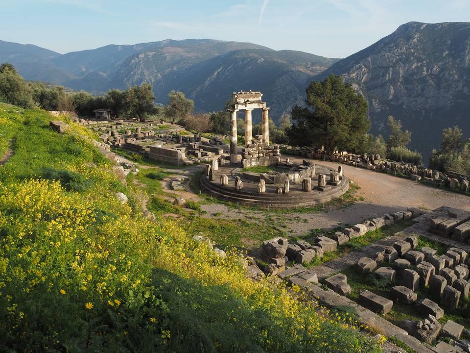 Ancient Temple of Athena Pronea, Delphi, Greece