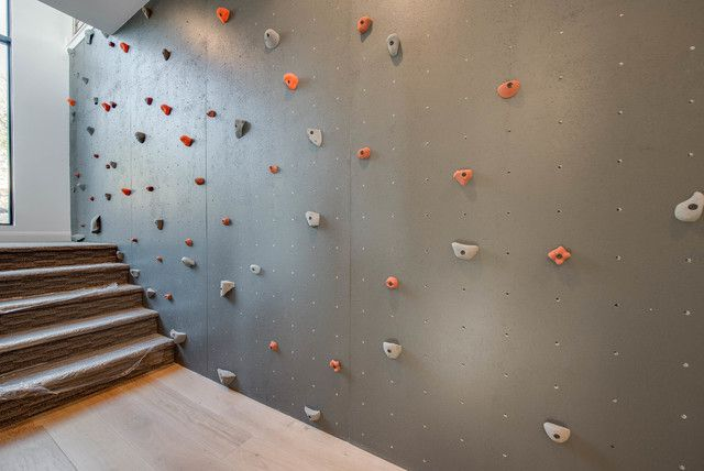 rock wall in home