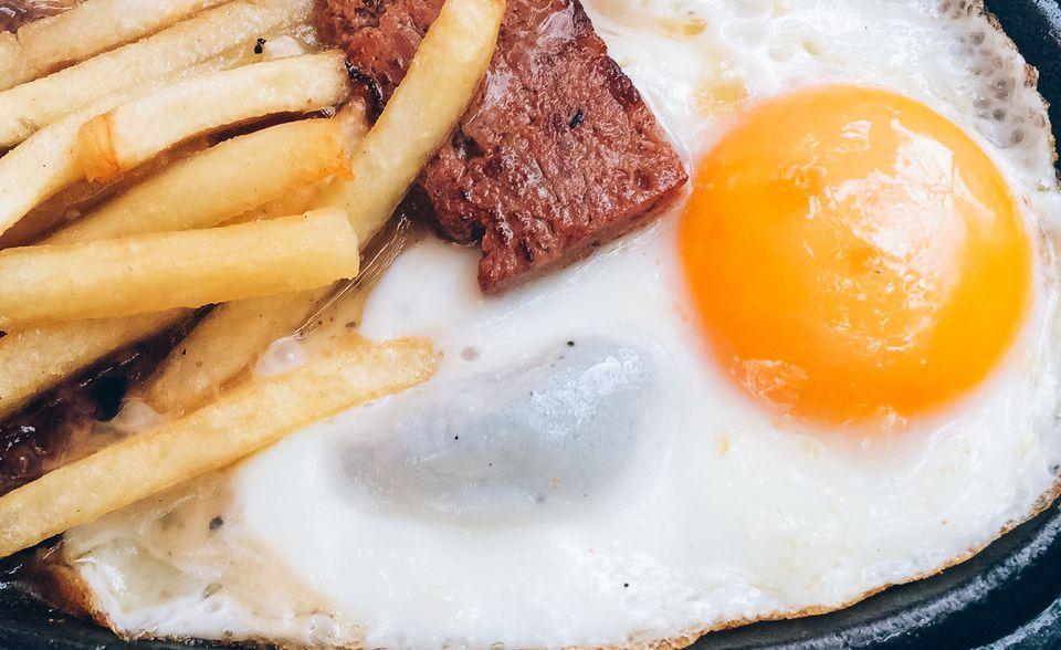 Beef Fries Eggs