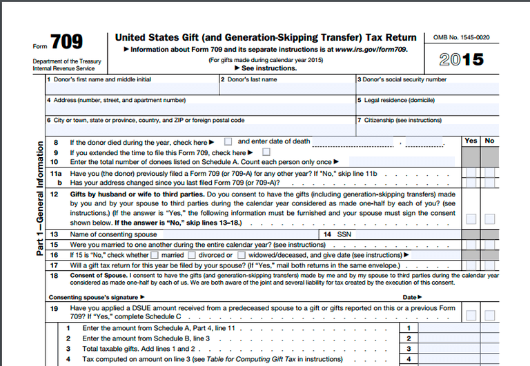 IRS Form 709 Definition and Description