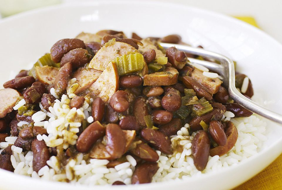 Beans and Rice with Sausage