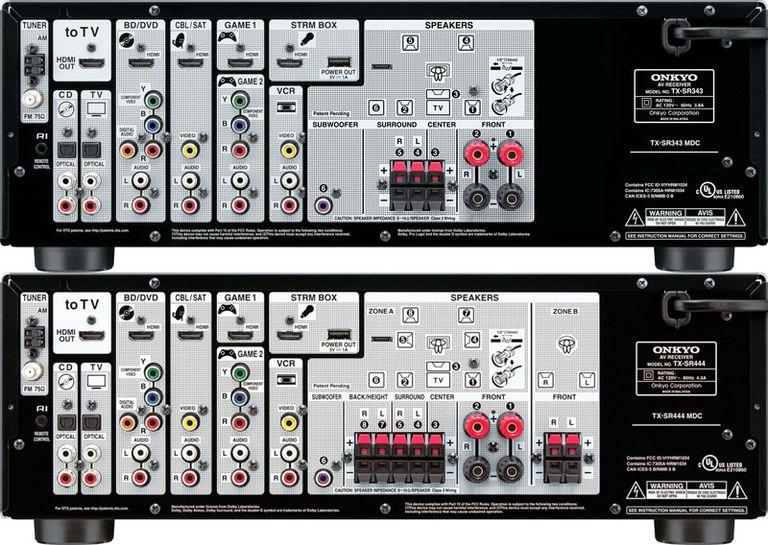 Onkyo TX-SR343 (5.1) vs TX-SR444 (7.1) Channel Receivers