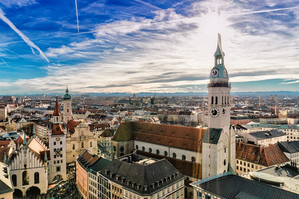 The cityscape of Munich, Germany