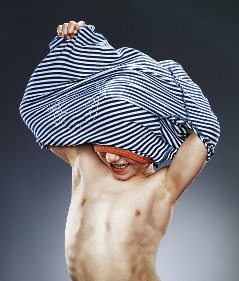 boy undressing