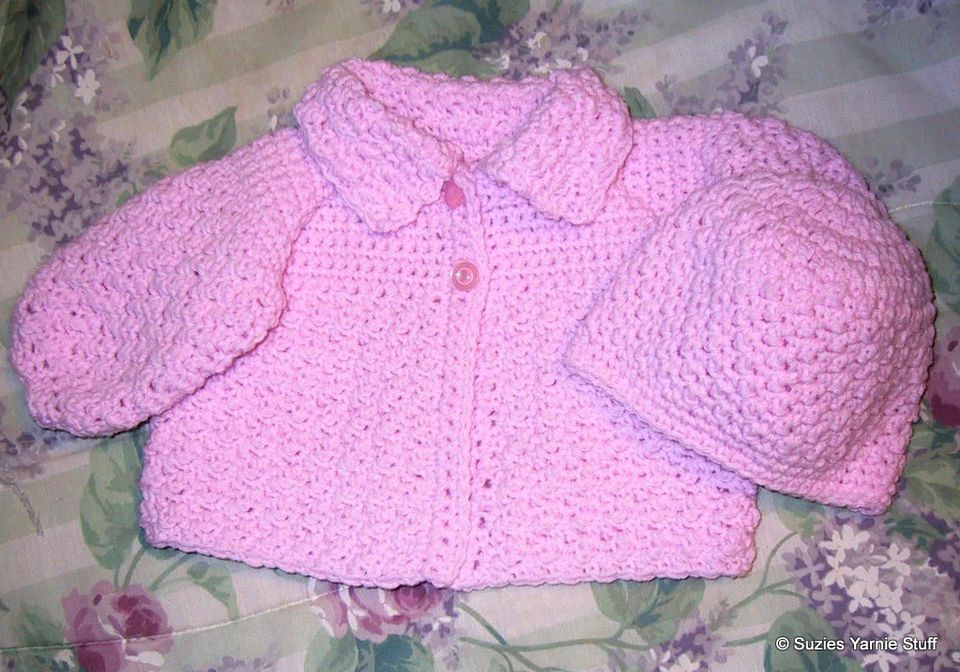 Textured Crochet Baby Sweater Free Pattern