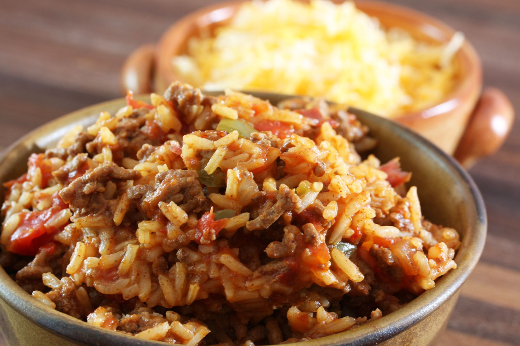 How to make basic mexican red rice or spanish rice delicious spanish rice with ground beef ccuart Choice Image
