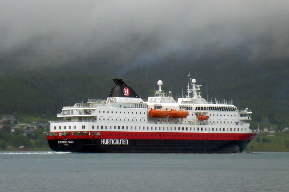 Hurtigruten ms Richard With coastal liner