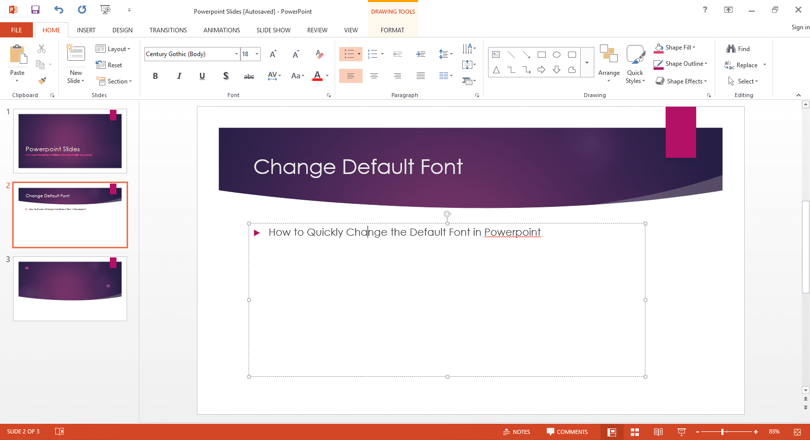 Create a default powerpoint presentation template how to quickly change the default font in powerpoint toneelgroepblik Choice Image