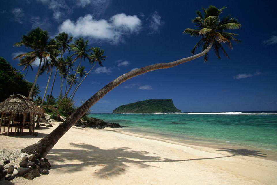Lalomanu Beach in Western Samoa