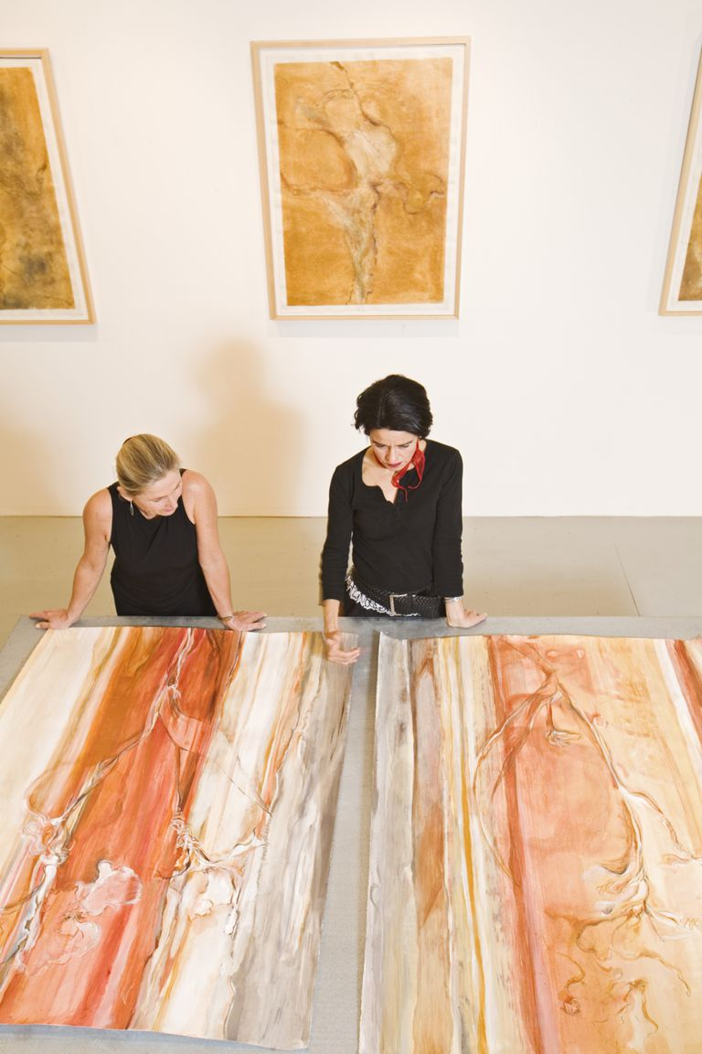 A curatorial assistant works with the chief curator.