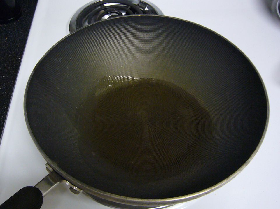 Oil In a Wok