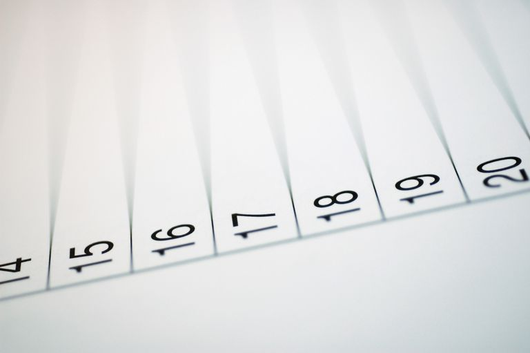 Close-up of numbers on paper