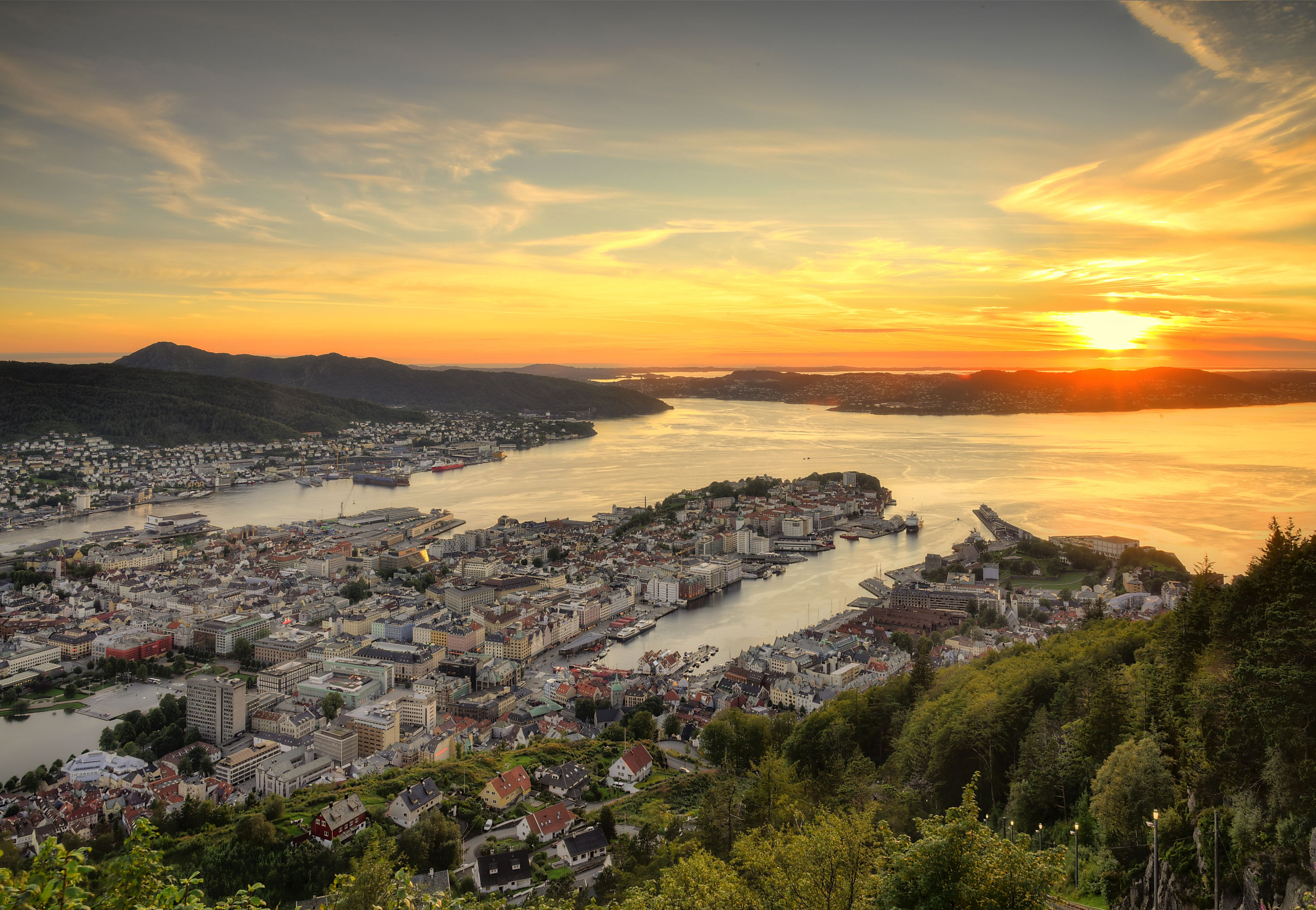 Bergen Is The Gateway To The Fjords Of Norway