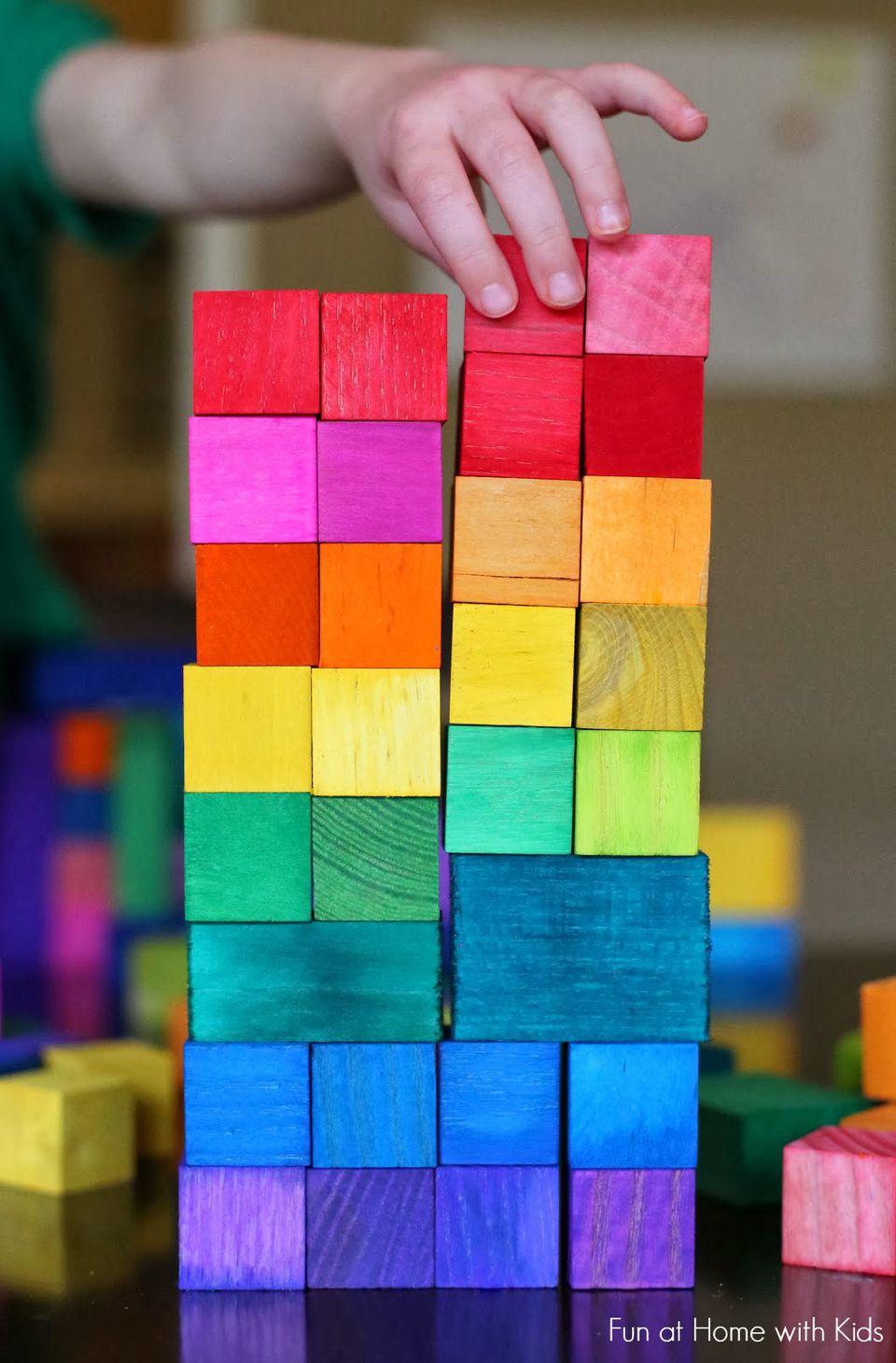 Handmade Rainbow Blocks