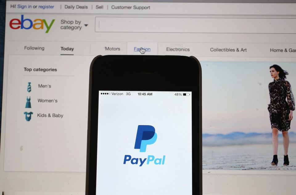 EBay and PayPal Webpages