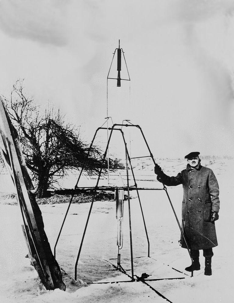 Dr. Robert H. Goddard and His Rockets