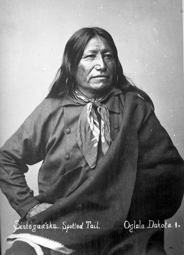 1880s portrait of Sichangu Dakota Chief Sintegaleska (Spotted Tail), after whom Sinte Gleska University is named.