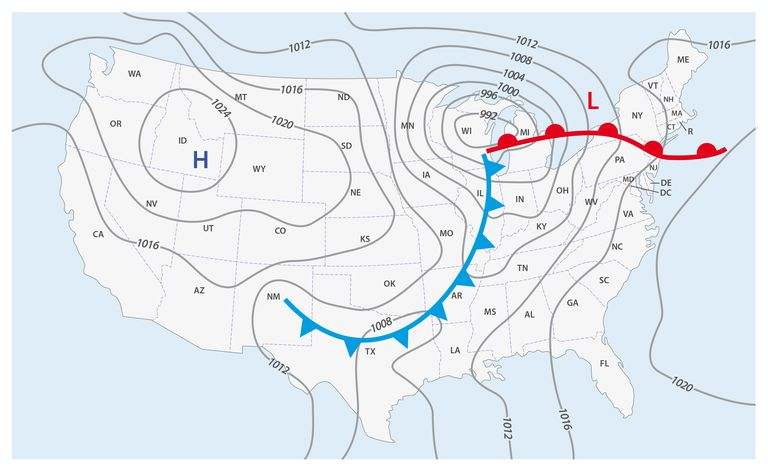Weather Front Definitions And Map Symbols