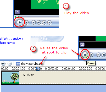 how to get movie clips to movie maker
