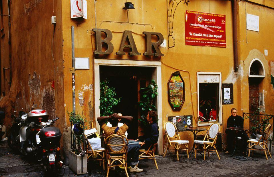 A bar in Rome.
