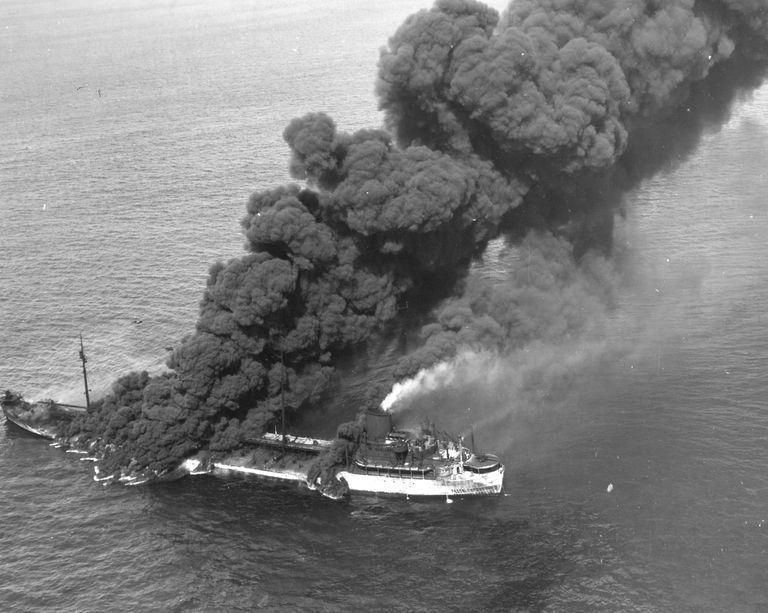 USS Pennsylvania Sun Burning