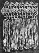 How to Make Fringe - Vintage Crochet Silk Edging With Fringe