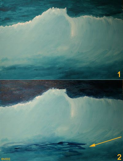 Sea painting demonstration