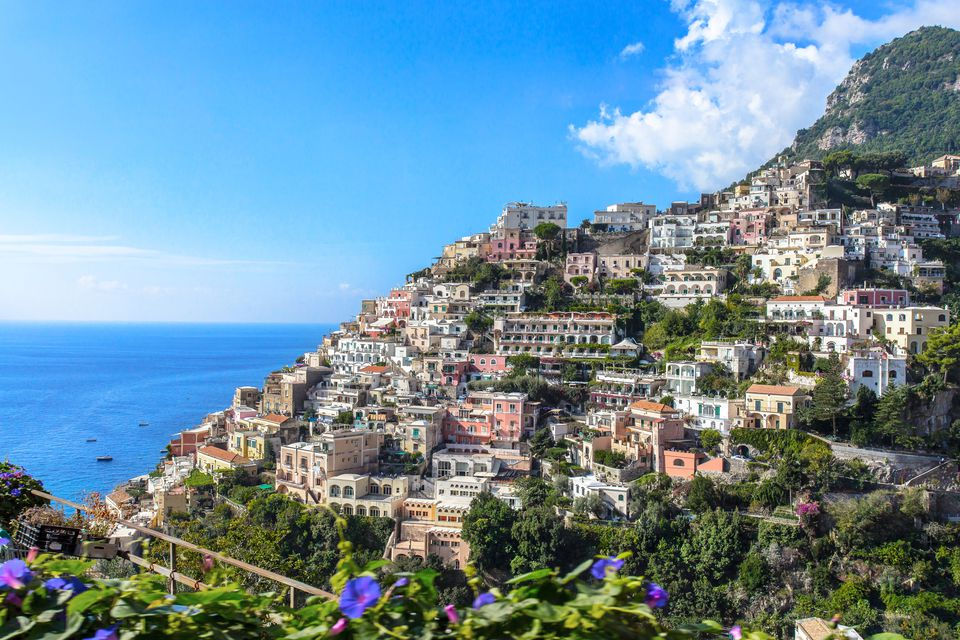 The bright colors of the Amalfi peninsula.