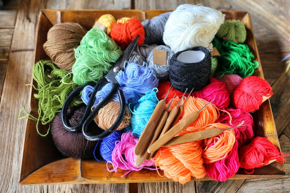Yarn and hooks for freeform crochet