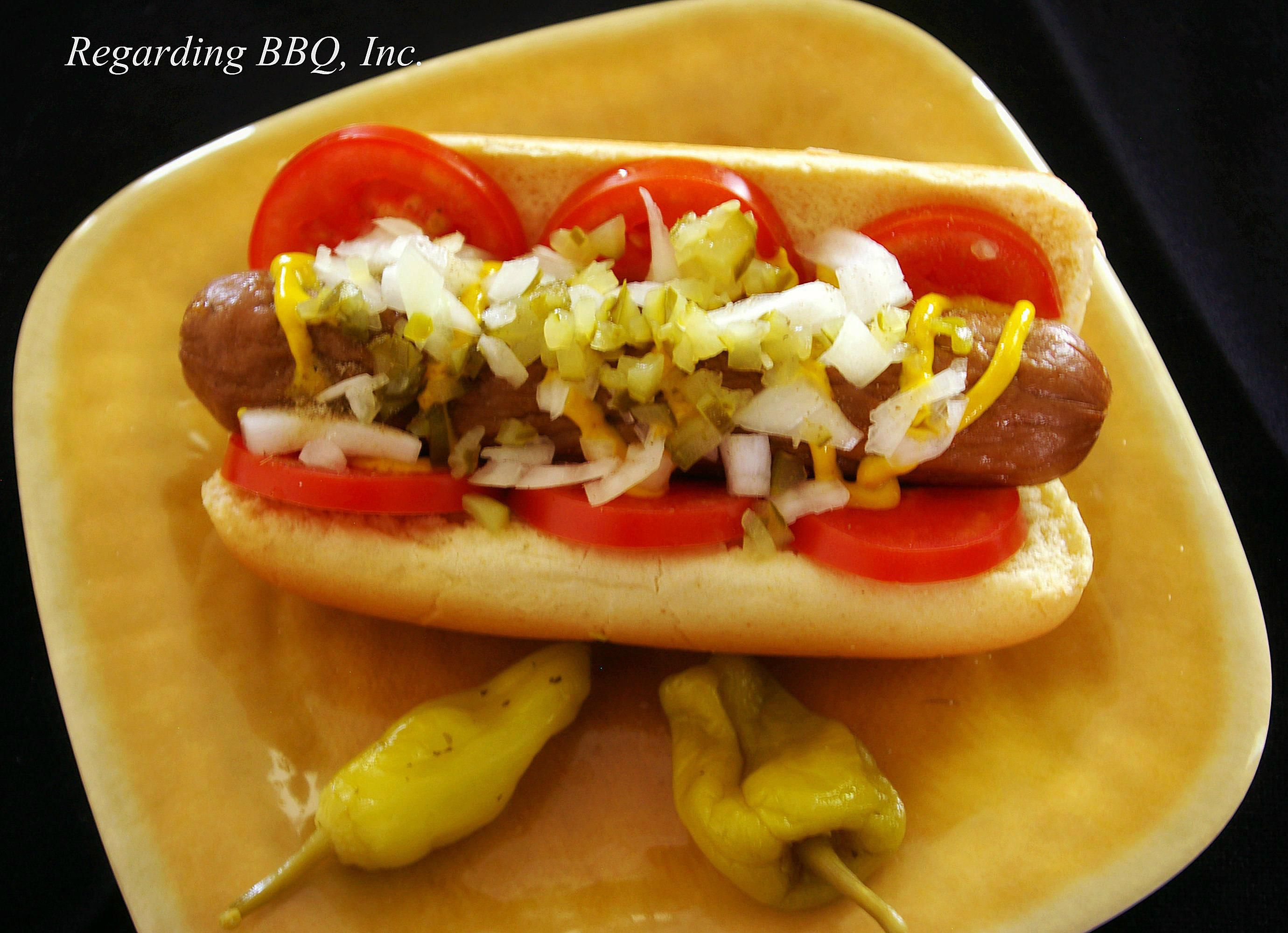Grilled Hot Dogs In The House