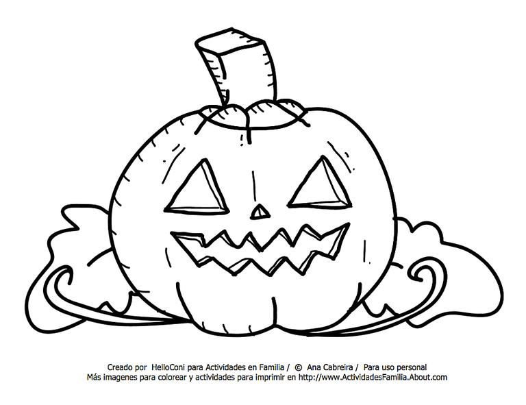 Dibujos de halloween para colorear - Calabazas halloween para colorear ...
