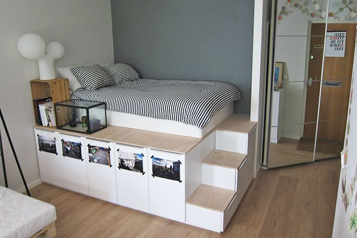 ikea platform bedroom hack. 21 Best IKEA Storage Hacks for Small Bedrooms