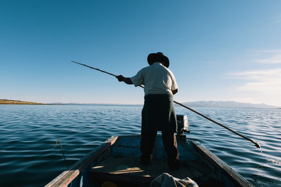 Fishing on Lake Titicaca