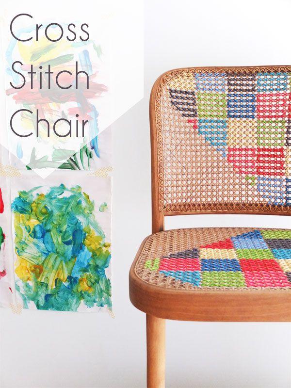 Cross Stitch Chair