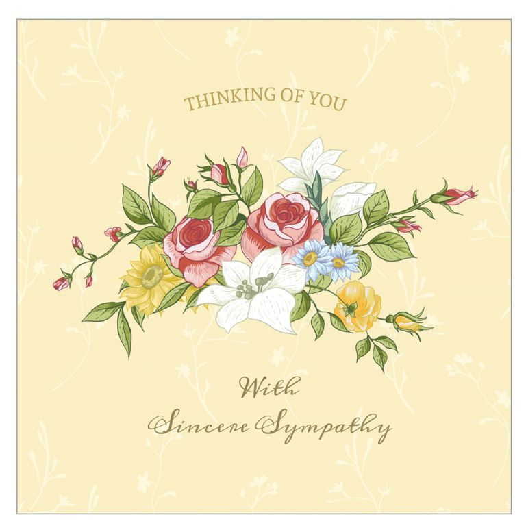 Adaptable image for printable sympathy card