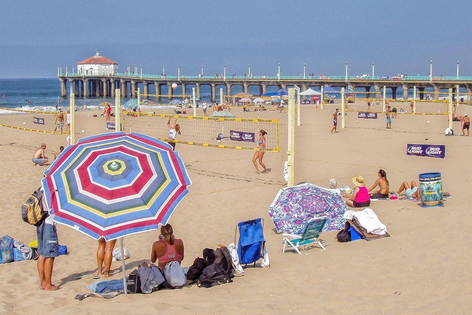 Sunny Day on Manhattan Beach