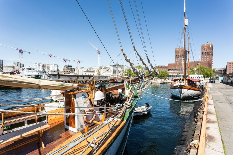 Oslo harbor in Norway capital city