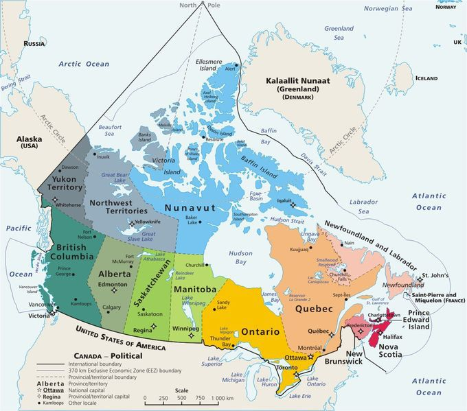 Plan Your Trip With These Maps Of Canada - Canada map