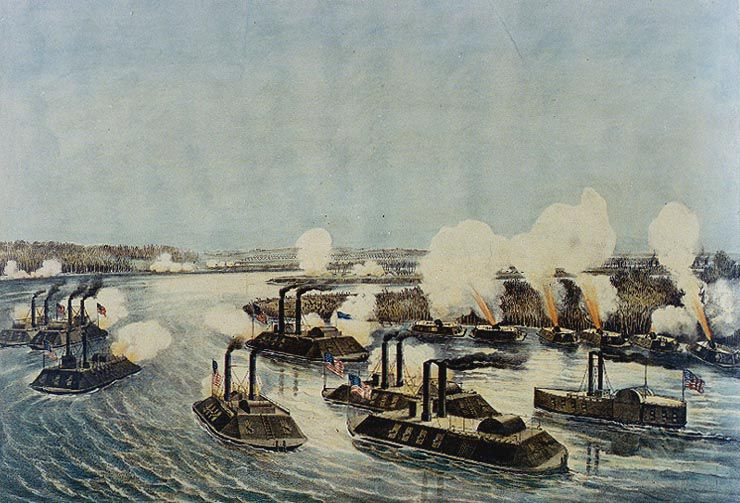 Union fleet at Island Number 10