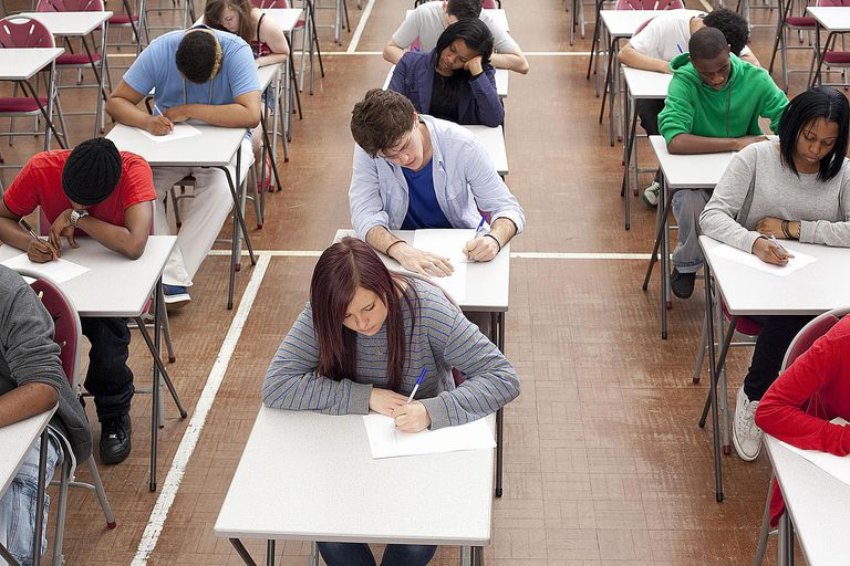 Students in a Classroom Testing