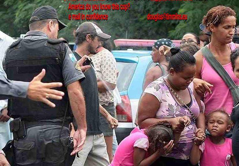 Police Officer Pepper-Spraying Kid