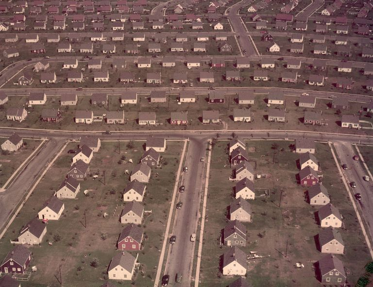 Levittown Cape Cod Houses in the 1950s