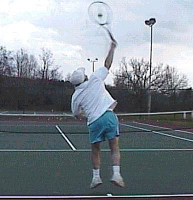 Topspin Slice Serve Point of Contact