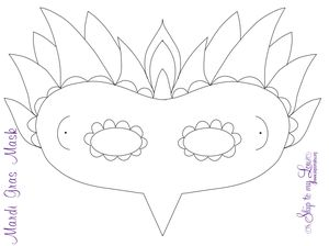 19 free mardi gras mask templates for kids and adults printable mardi gras mask template by skip to my lou pronofoot35fo Choice Image